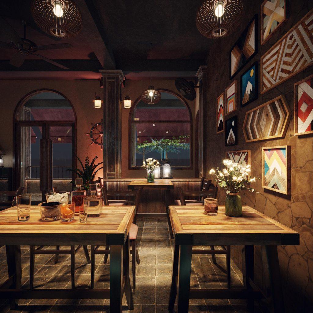 Thiết kế quán Pub cực chất cho khách hàng đến từ nước Đức xa xôi !!