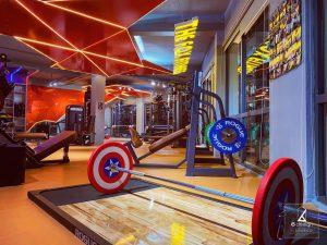 vật liệu thi công phòng gym của 6design